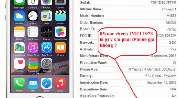 Sự thật về iPhone kiểm tra ngày kích hoạt 1978