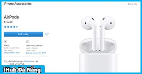 Tai nghe không dây AirPods của Apple cháy hàng trong dịp lễ Giáng sinh