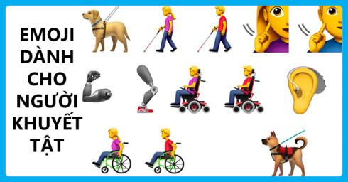 Apple đề xuất bộ emoji mới đại diện cho người khuyết tật